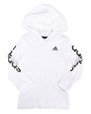 Adidas - Branded Linear Sleeve Hooded Tee (2T-4T)-2275848