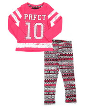 Sizes 2T-4T - Toddler - 2 Piece Lace Insert Top w/ Legging Set (2T-4T)-2275422