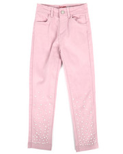 Girls - Twill Pants w/ Pearl Detail (4-6X)-2275555