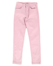 Girls - Twill Pants w/ Pearl Detail (7-16)-2275819