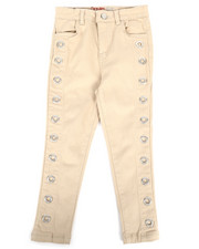 Girls - Twill Pants w/ Grommet Detail (4-6X)-2275465