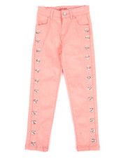 Girls - Twill Pants w/ Grommet Detail (4-6X)-2275485