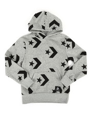Boys - Star Chevron Print Pullover Hoodie (8-20)-2273834