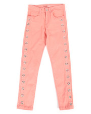 Girls - Twill Pants w/ Grommet Detail (7-16)-2275496