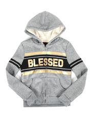 Girls - Sherpa Lined Fleece Hoodie (7-16)-2274367