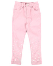 Sizes 2T-4T - Toddler - Twill Pants w/ Pearl Detail (2T-4T)-2275690