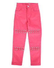 Girls - Twill Pants w/ Lacing Detail (4-6X)-2275457