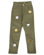 Girls - Twill Pants w/ Reversible Sequin Patches (4-6X)-2275807