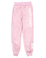 Girls - Fleece Jogger w/ Lacing Detail (7-16)-2275436