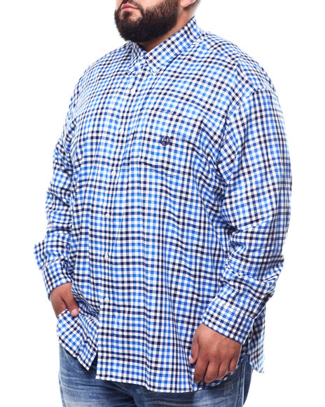 Chaps - Stretch Easy Care Stretch L/S Sport Shirt (B&T)