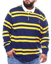 Chaps - L/S Stripe Polo T-Shirts (B&T)-2273550