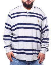 Chaps - L/S Stripe Polo T-Shirts (B&T)-2273572
