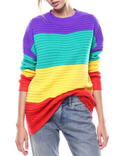 Women - Rainbow Stripe L/S Sweater-2273693