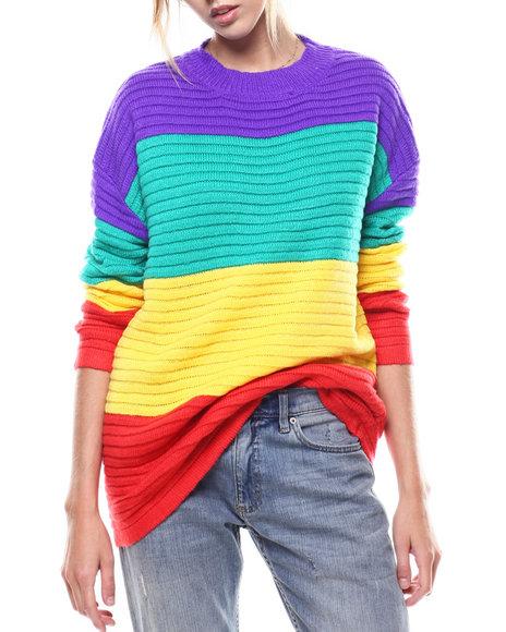 Fashion Lab - Rainbow Stripe L/S Sweater
