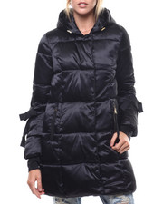 Womens-Winter - Nylon Hooded Grosgrain Trim Puffer-2276889