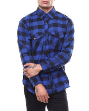 Mens-Fall - Plaid Flannel LS Shirt-2276850