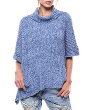 Women - Chenille Turtleneck Pocket Poncho-2275770