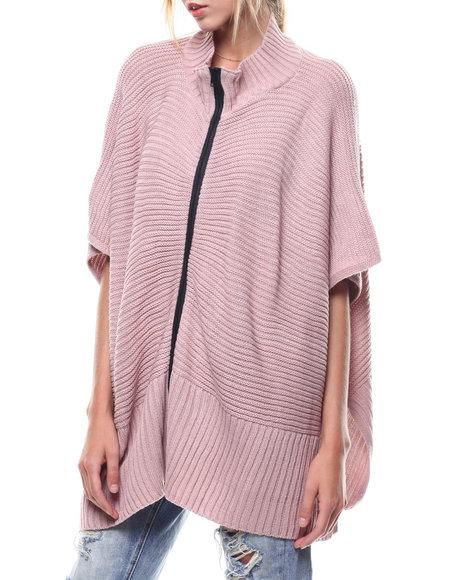 Fashion Lab - Zip Up Knit Ruana
