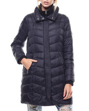 Womens-Winter - Nylon Puffer Knit Rib Collar-2276821