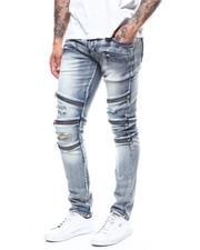 Kilogram - Distressed Ripped Jean w Zipper Detail-2276873