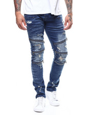 Kilogram - Distressed Ripped Jean w Zipper Detail-2276894