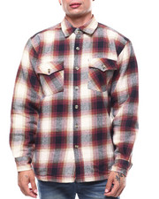 Mens-Fall - Quilted Brawny Plaid JKT-2276739