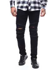 Kilogram - Distressed Ripped Jean w Zipper Detail-2276881