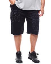 Shorts - Solid Denim Shorts (B&T)-2277387