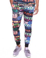 Rich Star - ALL OVER LOGO SCRIPT JOGGER-2277588