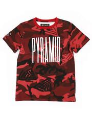 Tops - Camo Pyramid Kids Tee (8-20)-2276152