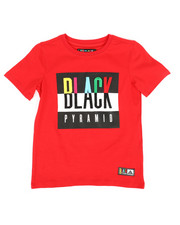 Tops - Black Pyramid Kids Tee (4-7)-2276135