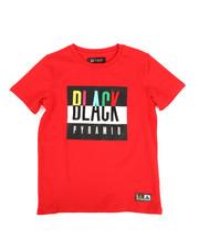 Tops - Black Pyramid Kids Tee (8-20)-2276120
