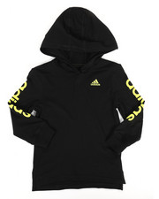 Tops - Branded Linear Sleeve Hooded Tee (4-7X)-2276034
