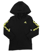 Adidas - Branded Linear Sleeve Hooded Tee (2T-4T)-2276031