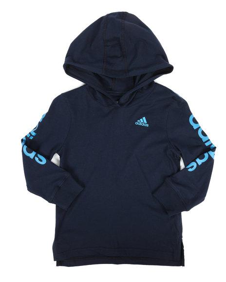 Adidas - Branded Linear Sleeve Hooded Tee (4-7X)