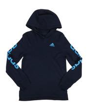 Tops - Branded Linear Sleeve Hooded Tee (8-20)-2276026