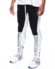 SMOKE RISE - METALLIC SILVER COLORBLOCK  TRACKPANT-2277396