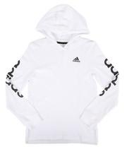 Tops - Branded Linear Sleeve Hooded Tee (8-20)-2276040