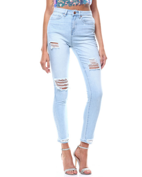 YMI Jeans - Destructed HI-Rise Skinny Jeans