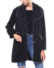 Womens-Winter - Wool Blend Coat/Bead Detail-2277601