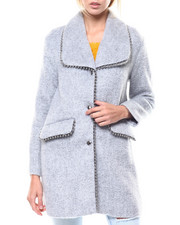 Womens-Winter - Wool Blend Coat/Bead Detail-2277606
