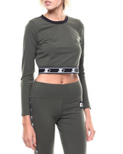 Starter - Cropped L/S Fitted Crew Neck Top-2276460