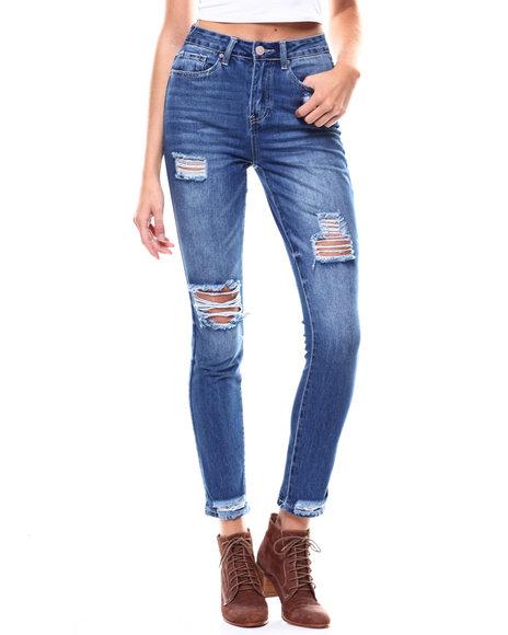 YMI Jeans - Destructed HI-Rise Skinny Jeans