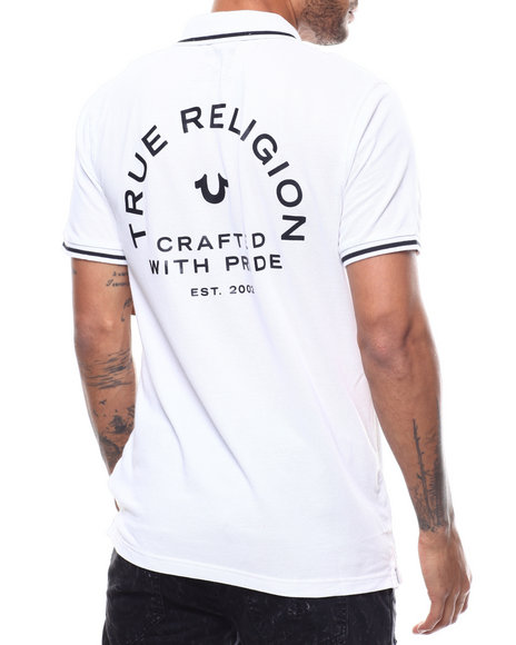 True Religion - CRAFTED W PRIDE POLO W TIPPING