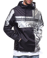 SMOKE RISE - METALLIC SILVER COLORBLOCK  ANORAK-2278382