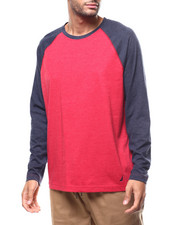 Shirts - L/S Knit Raglan Contrast Sleeve Crew-2277809