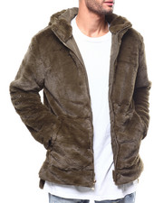Jordan Craig - Faux Fur Zip Hooded Jacket-2277966