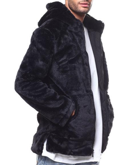 Jordan Craig - Faux Fur Zip Hooded Jacket