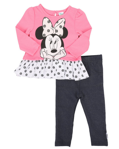 Disney/Sesame Street - 2 Piece French Terry Tunic Legging Sets (Infant)