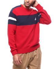 Sweatshirts & Sweaters - ARM STRIPE SWEATER-2278048